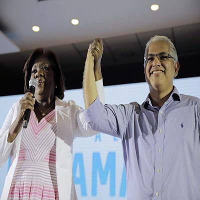 Blandón presenta a su vicepresidenta, la colonense Nilda Quijano
