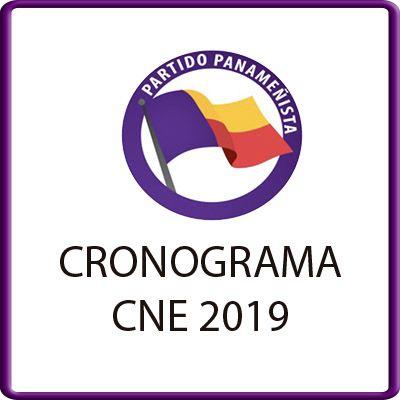 CRONOGRAMA CNE 2019