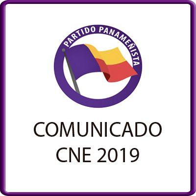 Comunicado CNE 2019