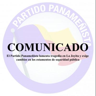 El Partido Panameñista lamenta tragedia